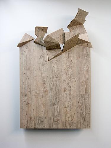 ®Philippe Poupet, exposition Rotation de la zone de travail, gal. Marion Meyer, 2009