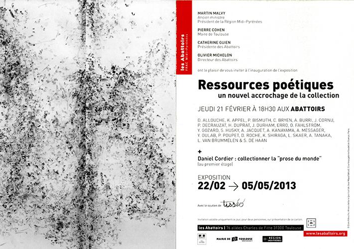 invitation FRAC Midi-Pyrénées