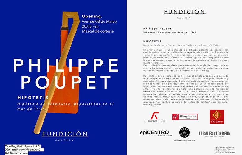 Carton d'invitation de l'exposition Hipótetis